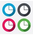 Pie chart graph sign icon Diagram button vector image