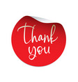 red sticker thank you badge and logo vector image