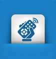 remote control icon vector image vector image