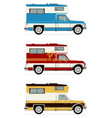retro pick up campers vector image