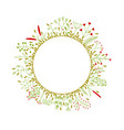 round frame with beautiful flowers vector image vector image