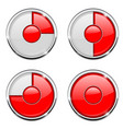 round loading process icon red and white sign vector image