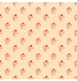 Seamless pattern or texture with sweet cupcakes vector image vector image