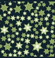 seamless stars pattern deep green print vector image