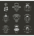 Set brewing emblems vector image vector image