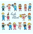 Set of kids vector image vector image