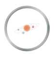 Solar system icon in cartoon style isolated on vector image