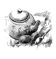 Still life with tea pot vector image vector image