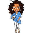 Stylish African American Woman vector image vector image