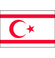 turkish republic of northern cyprus flag vector image vector image