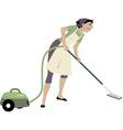 Vacuuming vector image vector image