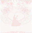 wedding dancing couple background vector image vector image