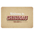 welcome to chisinau vector image vector image