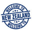 welcome to new zealand blue stamp vector image vector image