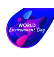 world environment day purple gradient planet vector image