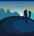 night in desert landscape summer wild nature vector image