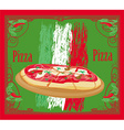 Pizza grunge card vector image