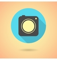 photo camera icon with long shadow vector image