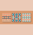 abstract native american seamless pattern set vector image