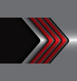 abstract red metallic arrows silver with black