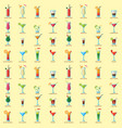 alcoholic cocktails seamless pattern background vector image vector image