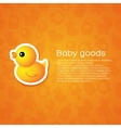 Background with Cartoon Duck vector image vector image
