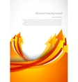 Background with orange arrow vector image vector image