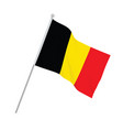 belgium national flag vector image vector image