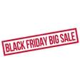 Black Friday Big Sale rubber stamp vector image