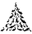 black silhouette a school fish fish vector image