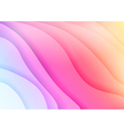 Bright colorful waves abstract background vector image vector image