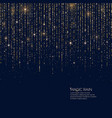 bright magic rain of sparkling vector image
