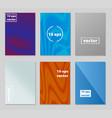 brochure template geometric halftone gradients vector image vector image