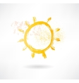 Brush sun icon Creative nature vector image vector image