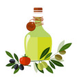 carafe with olive oil isolated on background vector image vector image