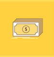 cash dollar finance funds money flat line filled vector image