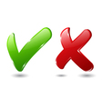 check and cross mark vector image