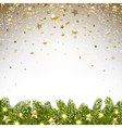 christmas background with falling stars vector image vector image