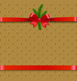 christmas background with xmas tree ribbon bow vector image vector image