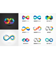 colorful abstract infinity endless symbols vector image vector image