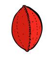 comic cartoon football vector image vector image