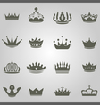 Crowns Set copy vector image