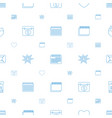 day icons pattern seamless white background vector image vector image