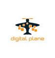 digital plane concept design template vector image vector image