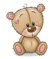 drawing teddy bear on a white background vector image