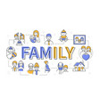 family - line design style modern banner vector image