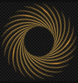 fire light circle trail effect vector image