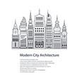 flyer modern big city vector image