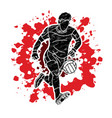 gaelic football male player action vector image