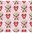 gingerbread man background with hearts sweets vector image